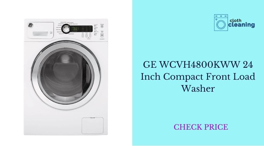 GE WCVH4800KWW 24 Inch Compact Front Load Washer