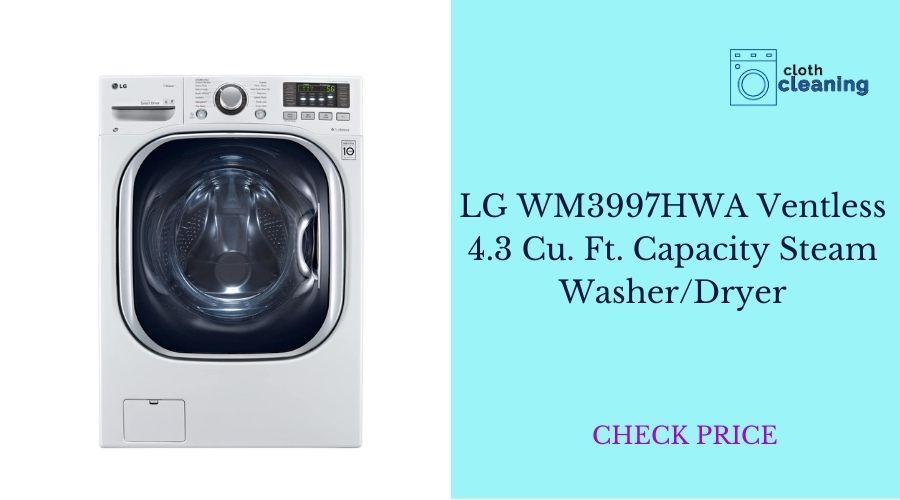 LGWM3997HWA Ventless 4.3 Cu. Ft. Capacity Steam  Washer/Dryer