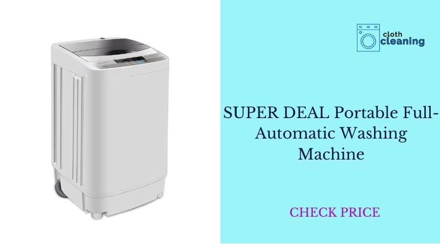 SUPER DEAL Newest Portable Full-Automatic Washing Machine