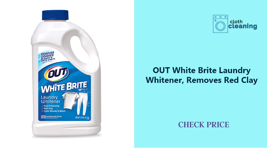 OUT White Brite Laundry Whitener, Removes Red Clay