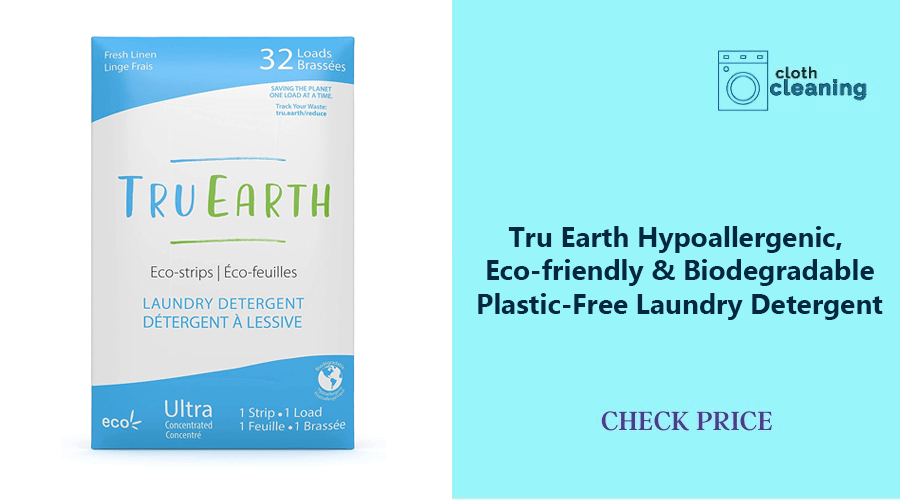 Roll over image to zoom in Tru Earth Hypoallergenic, Eco-friendly & Biodegradable Plastic-Free Laundry Detergent
